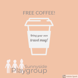 Free coffee at Sunnyside Playgroup